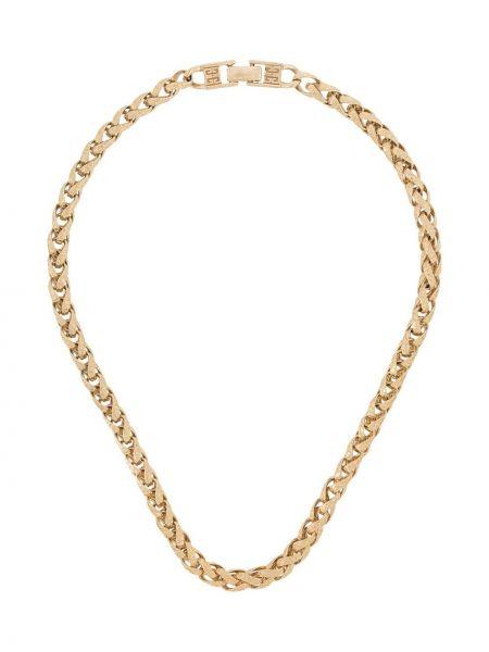 Золотистая желтая цепочка металлическая позолоченная Givenchy Pre-owned