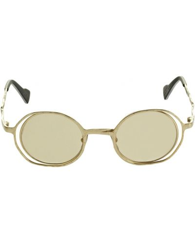 Brązowe złote okulary Kuboraum Berlin