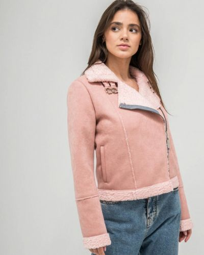 Дубленка - розовая Dasti