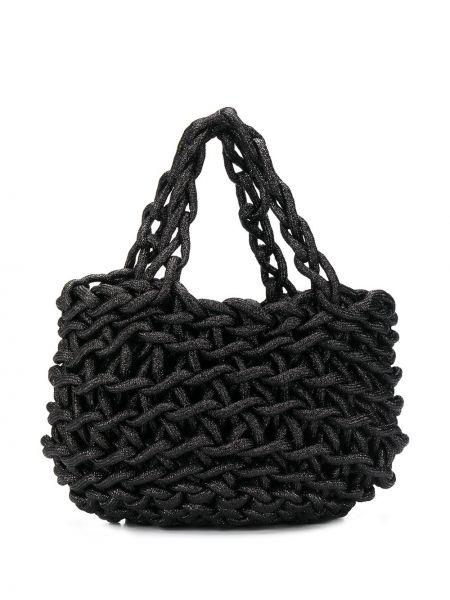 Czarna torba na ramię bawełniana Alienina