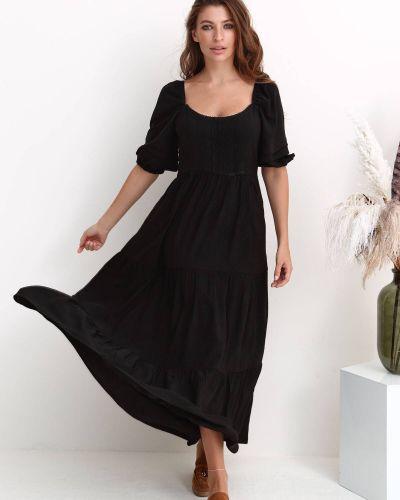 Платье с рукавом реглан - черное Nenka