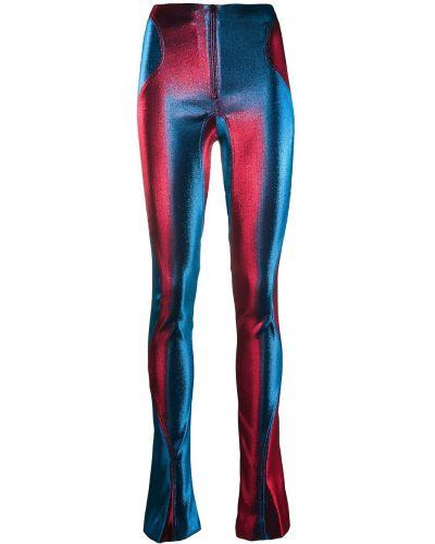 Расклешенные брюки скинни на молнии из вискозы Mugler