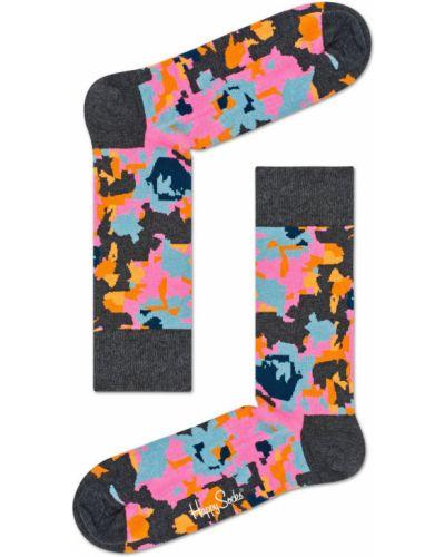 Колготки с цветочным принтом с узором Happy Socks
