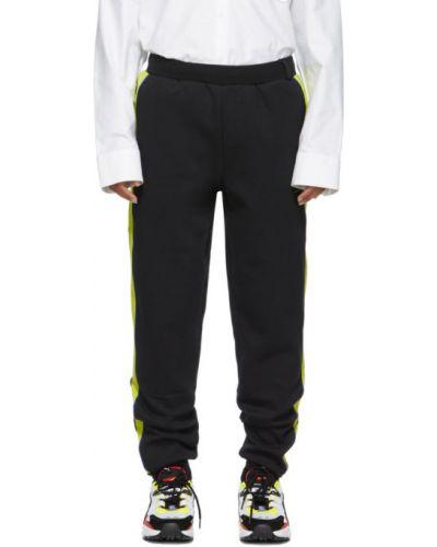 Czarne spodnie bawełniane z paskiem Ader Error