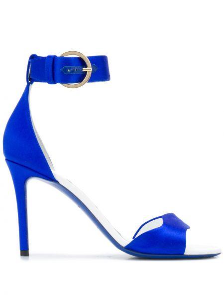 Otwarty sandały z klamrą otwarty palec u nogi z prawdziwej skóry Emilio Pucci