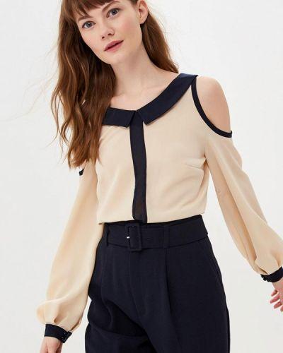 Блузка с открытыми плечами весенний бежевый Gepur
