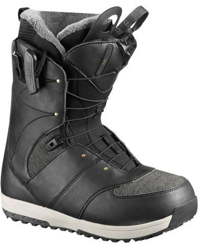 Черные ботинки сноубордические Salomon