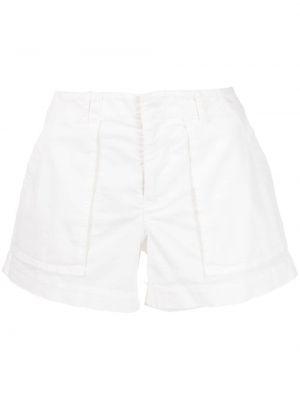 Хлопковые белые шорты на пуговицах Nili Lotan