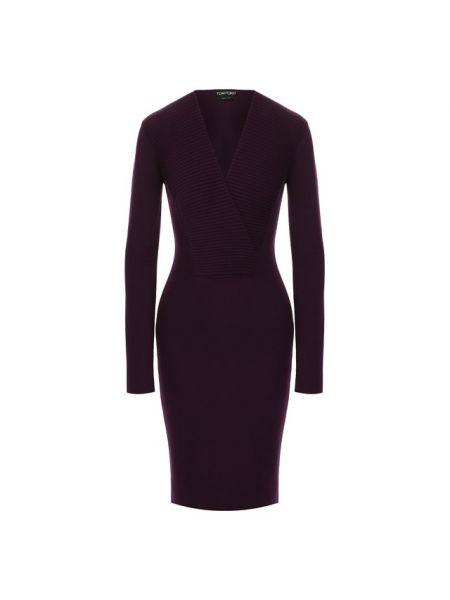 Платье с запахом - фиолетовое Tom Ford