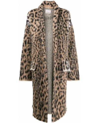 Коралловое шерстяное длинное пальто Laneus