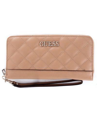 Złoty portfel na monety pikowany Guess