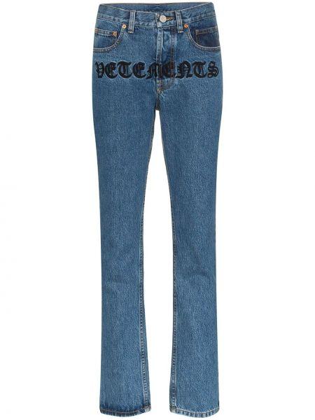 Прямые джинсы синие с карманами Vetements