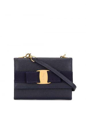 Кожаный черный кошелек винтажный Salvatore Ferragamo Pre-owned