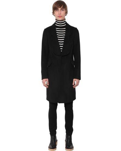 Czarny płaszcz wełniany Takahiromiyashitathesoloist