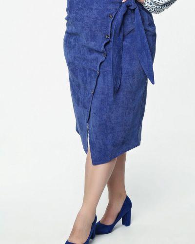 Юбка карандаш синяя Matilda