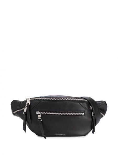 Поясная сумка черная на молнии Karl Lagerfeld