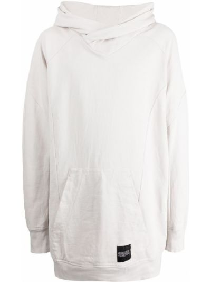 Biały sweter z kapturem Julius