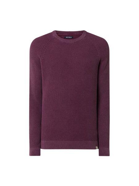 Fioletowy sweter bawełniany z raglanowymi rękawami Mcneal