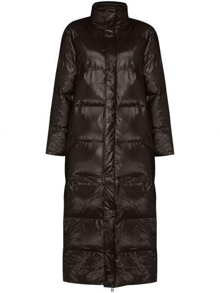 Нейлоновая коричневая водонепроницаемая длинная куртка Rains