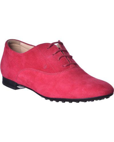 Красные замшевые туфли Tod's