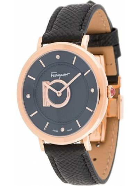 Zegarek szary czarny Salvatore Ferragamo Watches