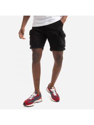 Черные короткие шорты Alpha Industries