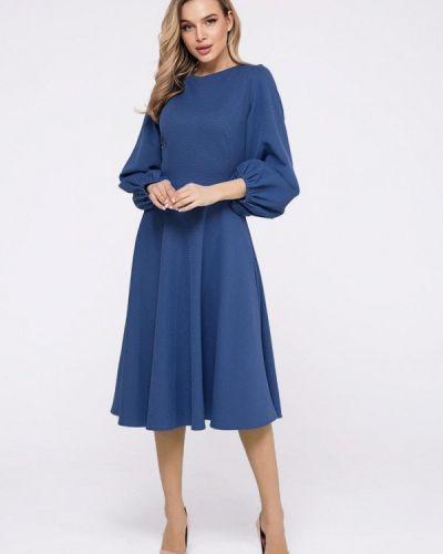 Прямое синее платье А-силуэта Magnet