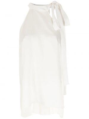 Белый топ с воротником с завязками Gloria Coelho