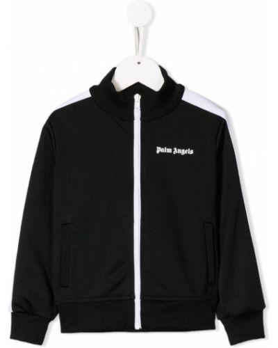 Куртка длинная черная Palm Angels Kids