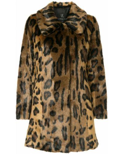 Длинное пальто с капюшоном на крючках Unreal Fur