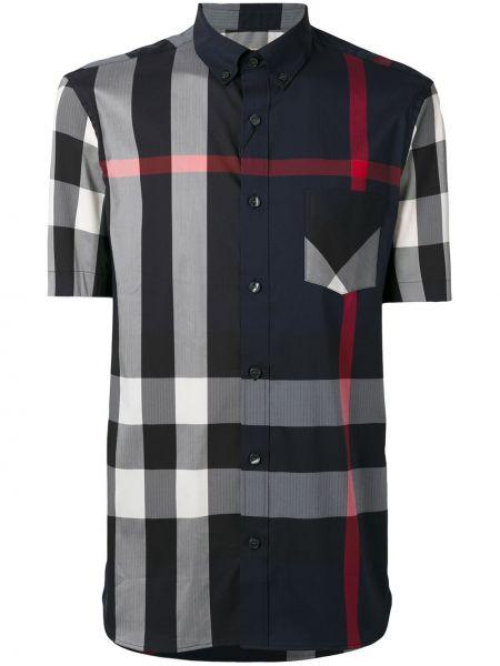 Koszula krótkie z krótkim rękawem klasyczna ciemnoniebieski Burberry