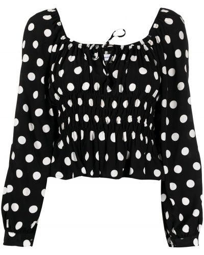 Белая блузка в горошек из вискозы Faithfull The Brand