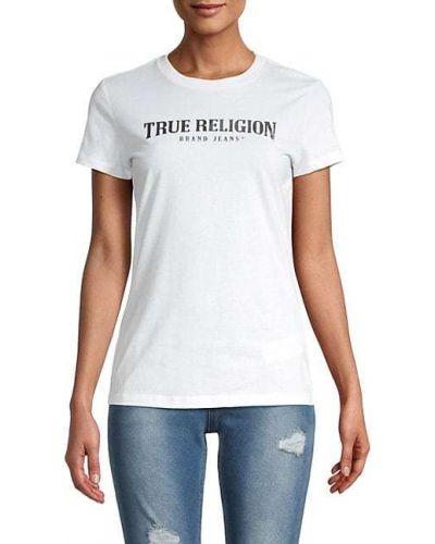 Хлопковая черная футболка с короткими рукавами True Religion