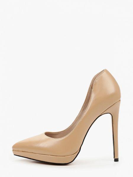 Кожаные туфли лодочки бежевый Diora.rim