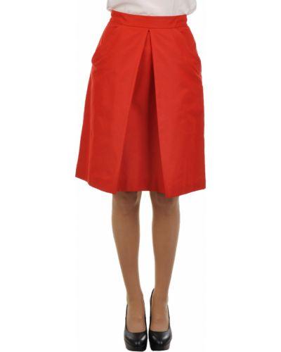 Шелковая юбка - красная Agnona