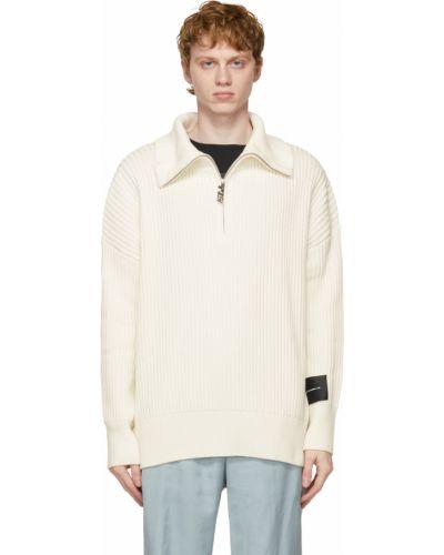 Biały długi sweter bawełniany z długimi rękawami Stolen Girlfriends Club