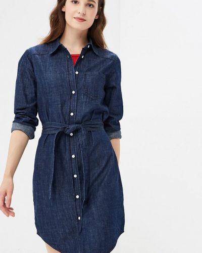 Джинсовое платье осеннее синее Jacqueline De Yong