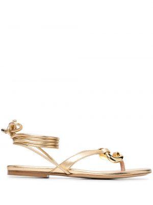 Кожаные сандалии - желтые Gia Couture