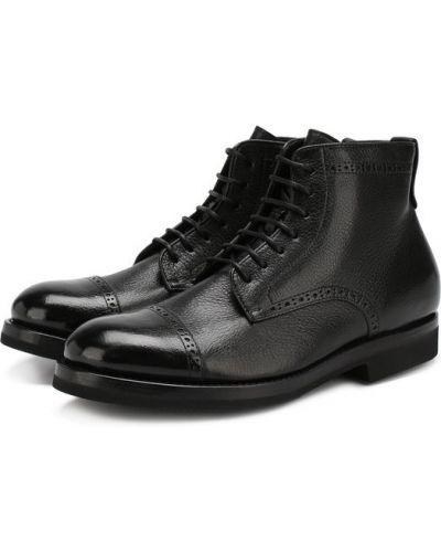 Кожаные ботинки броги на овчине H*d*s*n Baracco