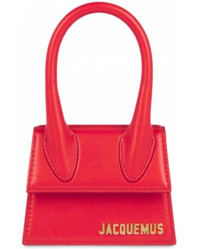 Кожаная сумка - красная Jacquemus