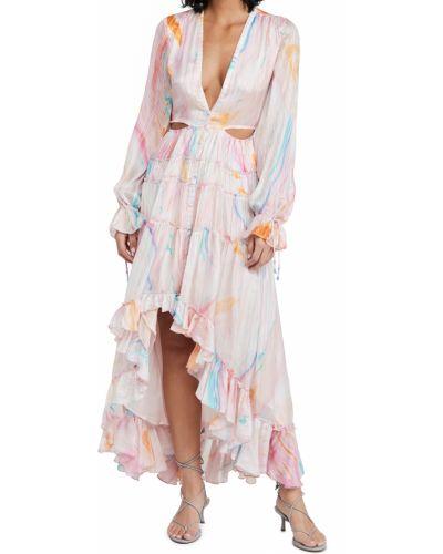 Розовое платье макси с подкладкой из вискозы Rococo Sand