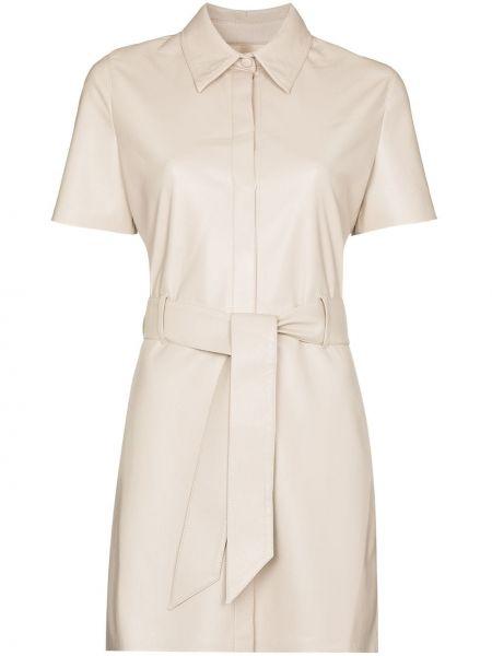 Хлопковое платье мини - белое Nanushka