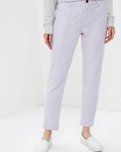 Фиолетовые брюки прямые Gap