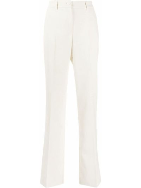 Брючные плиссированные брюки с поясом с высокой посадкой Hebe Studio