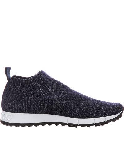 Кроссовки с камнями - синие Jimmy Choo