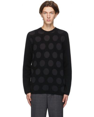 Czarny sweter wełniany z długimi rękawami Comme Des Garcons Homme Deux