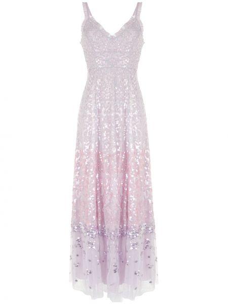 Вечернее платье из фатина с пайетками с V-образным вырезом на молнии Needle & Thread