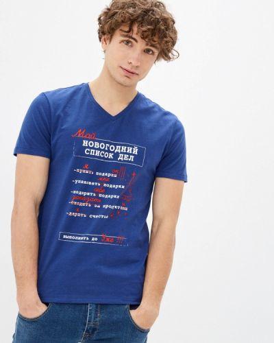 Синяя с рукавами футболка Mark Formelle