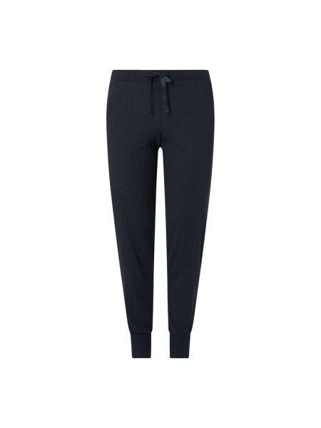 Niebieskie spodnie bawełniane Schiesser