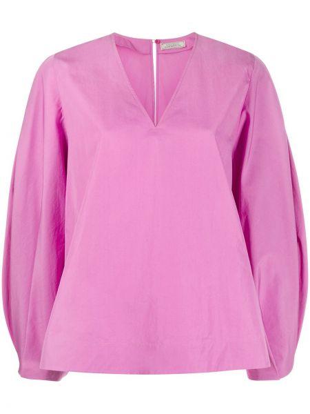 С рукавами розовая блузка Nina Ricci